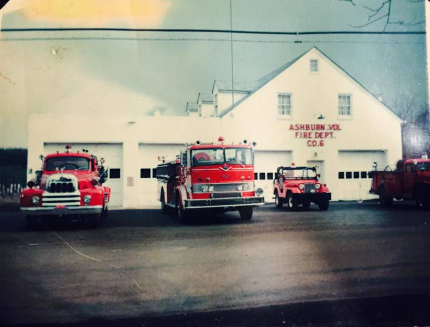 Ashburn Volunteer Fire Station 6 1960s