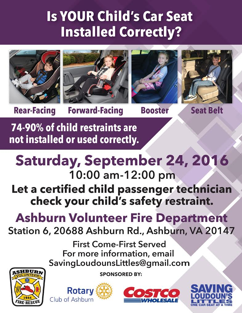 Car Seat Safety Inspection 2016 - Ashburn Volunteer Fire and Rescue ...