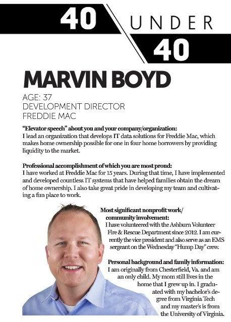 Marvin Boyd 40-under-40