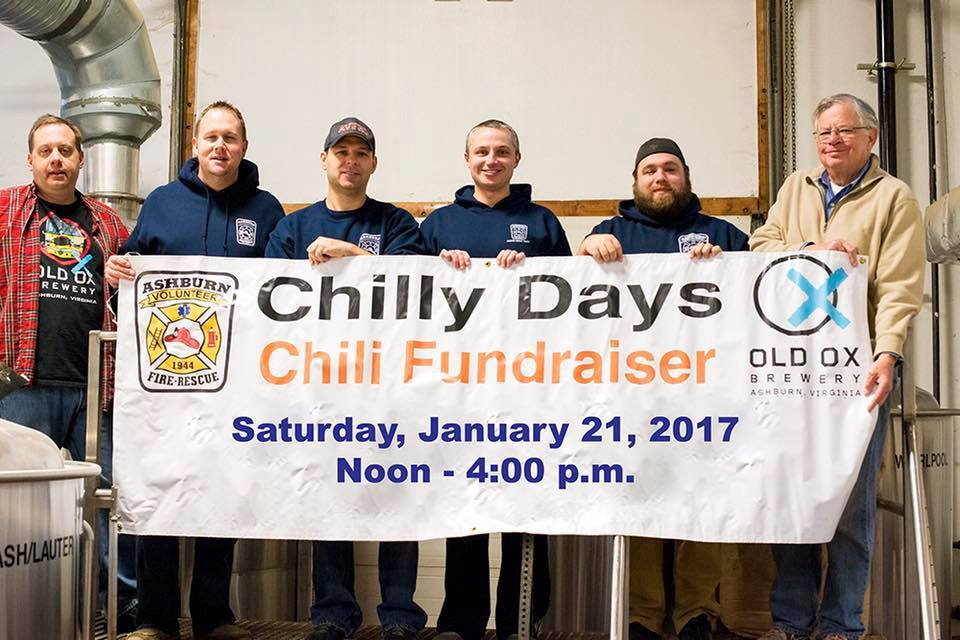 chili fundraiser at Old Ox Brewery