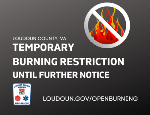 Temporary Burning Restrictions in Effect for Loudoun County January 19, 2021 Until Further Notice