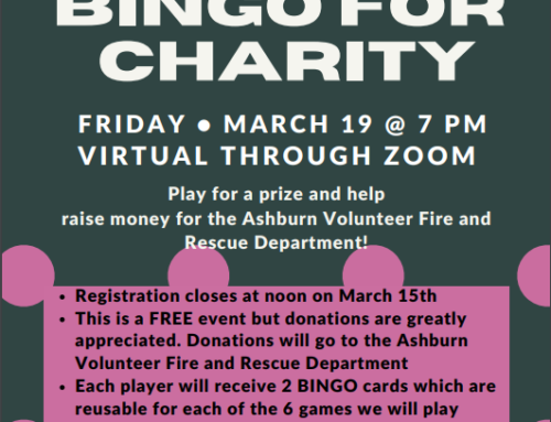 Jackpot Bingo for Charity – Hosted by Ashburn Village for the AVFRD